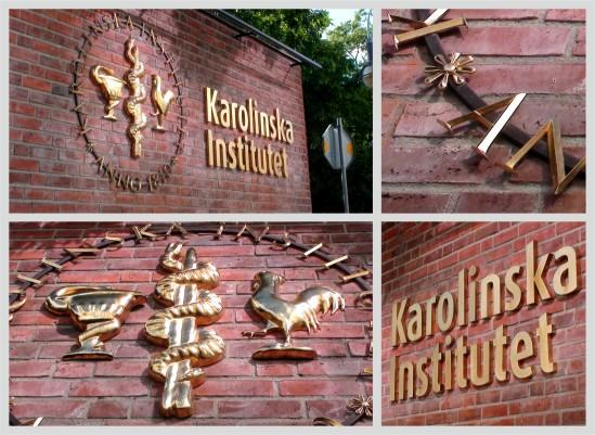clarex_skyltar_karolinska institutet_bronsskyltar_gjutna skyltar_forgyllda skyltar