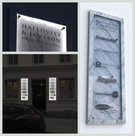 Blogg - Inifrånbelyst LED Fastighetsregisterskylt Glasskylt marmorerad_skylt Fasadskyltning entré_skylt hus_skylt - WordPress