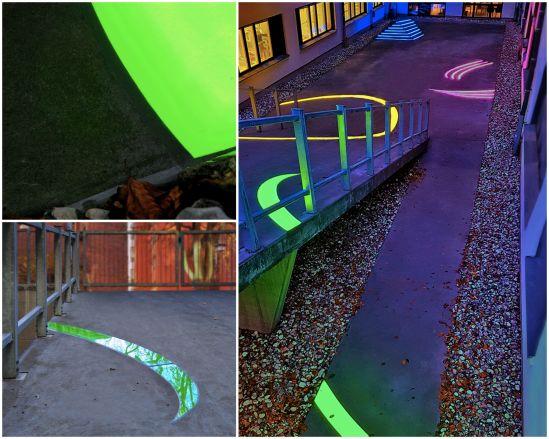 Inifrån LED-belysta skyltar i mark eller effektfull konstinstallation till Sahlgrenska sjukhuset